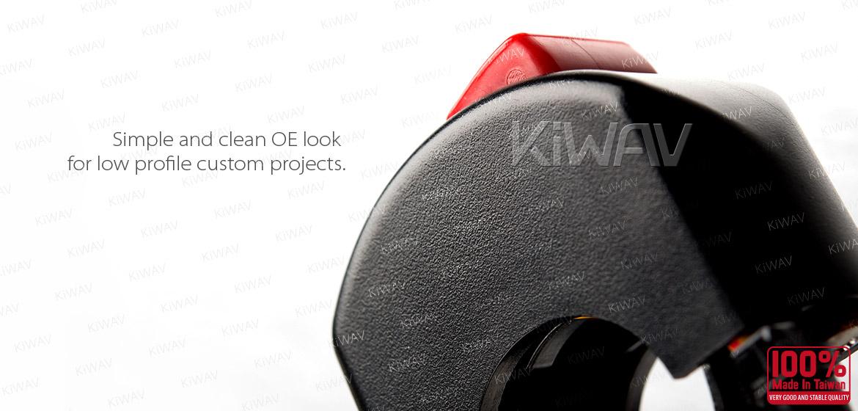 KiWAV motorcycle engine kill switch for 7/8 inch handlebar