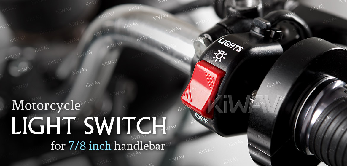 KiWAV motorcycle light switch for 7/8 inch handlebar