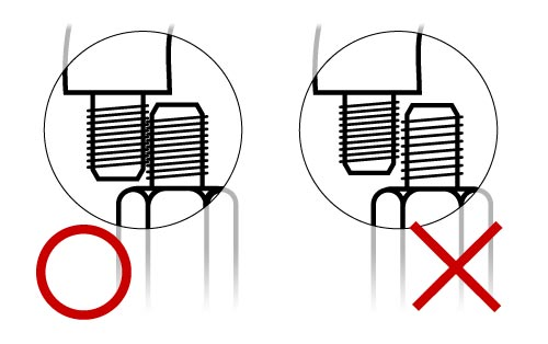 Compare two bolts thread size