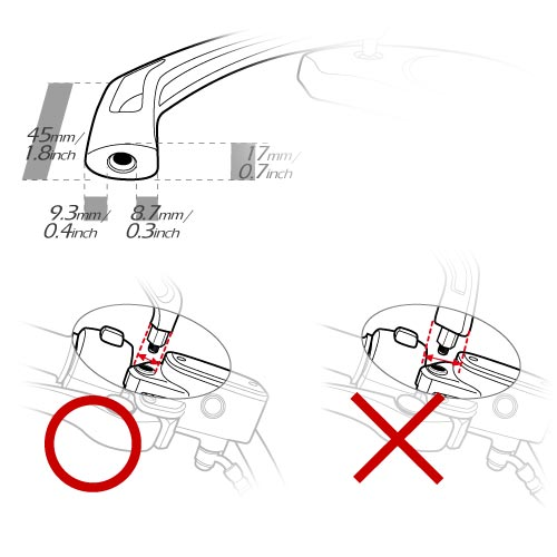 Check the bolt area of your bike