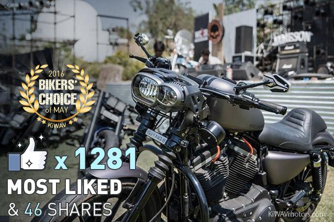 Amazing customization! Made my day! Harley Iron883 + Magazi Viper black mirrors. Thanks to Vishal!