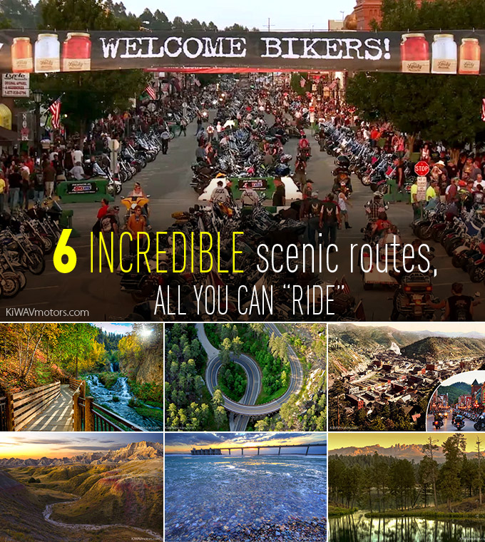 Six incredible scenic routes you can't miss around the Sturgis motorcycle Rally