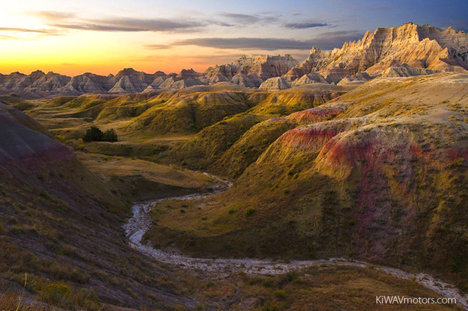 KiWAV motors 6 scenic routes - Badlands Park