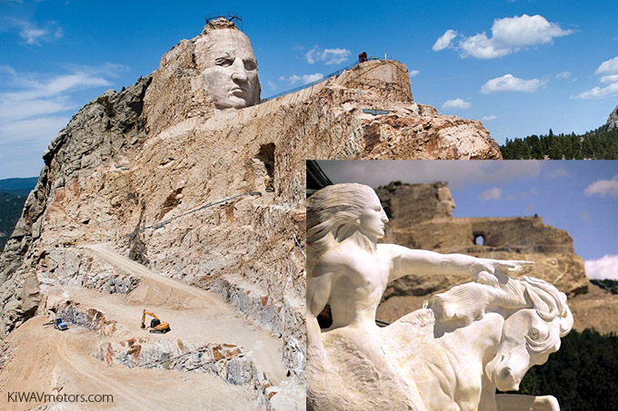 KiWAV motors 6 scenic routes - Crazy Horse Memorial