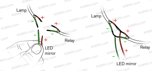 Kiwav motors lead the trend rise of the led integrated mirrors connect the negative wire usually black to ground or the negative electrode swarovskicordoba Images