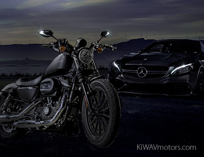 Daytime running lights on motorcycle - KiWAV motors